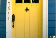 Exterior Paint / Paint is so functional but it also can change the total look and feel of a home.  You can make an easy change today just by repainting your front door and updating the door hardware.   / by Kim Raines