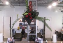 Corporate bunches / Examples of our floral sculptures that adorn businesses in Essex providing scent and smiles.