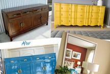 Refinishing furniture!