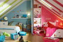 Jaetut lastenhuoneet