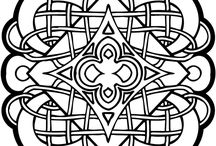 Celtic Colouring / Celtic Colouring, or be inspired to create other designs in other art forms.