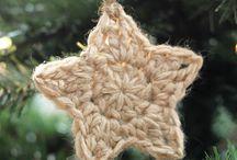 Estrelas em crochet