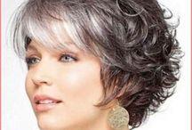Short gray hair