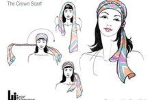 turbantes y pañuelos en la cabeza