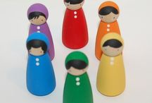 diy wooden people dolls