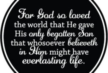 Christianity  ✞ John 3: 16  / As a believer in Christ I trust the Bible to be God's written Word.  / by Carole B. Strumsky