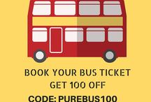 bus ticket booking website / Discover new travelling experience in more comfortable and easy way by booking your bus tickets through purebus.com and get 100 Rs off. PROMO CODE:PUREBUS100 http://www.purebus.com