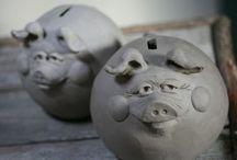 pottery pig / by paula horton