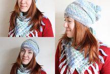 """Шапки-шарфы / Вязаные комплекты аксессуаров - шапки, шарфы, снуды. Мастерская """"Шерстяной нос"""""""