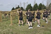 Military Group Training / Our Military Group Physical Training range can be used in conjunction with our range of individual fitness trail items to enhance a courses potential and are a popular option within Military Training and Defence Authorities. Whether you require the ability to exercise a full platoon of up to 30 individuals, or smaller groups at individual stations, FLP have the capability of providing a solution for your group training needs.