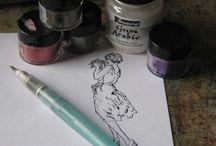 Coloring - Not Copics or Pencils / by Cheryl Thomas Gorka