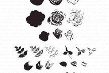 Fresh Cut Garden Roses (Layer + Outline)