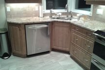 Heater kitchen renovation / Small kitchen re-designed and modernized by moving the major appliances in the write areas.