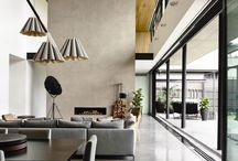 Concrete Architecture Interior Living Spaces