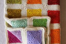 crochet blankets & granny squares & pillows