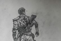 """My sketches / """" Life is the art of drawing without an eraser. """"  John W. Gardner"""
