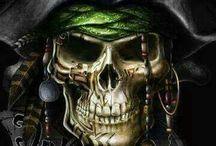 plecy pirat czaszki