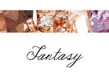 Fantasy / #Bibigì | Collezione Fantasy | Gioielli in oro rosa o bianco, brillanti e quarzo cognac, fumè, ametista, onice.