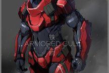 Character Design - Mecha & Cyberpunk / Some mecha & cyberpunk character designs reference