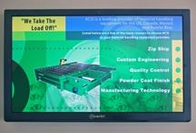 Manufacturing / Digital Signage, digital metric boards for the manufacturing industry.