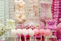 Candy Buffets - Pink & White