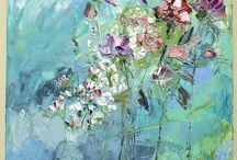 fiori delicati in acrilico