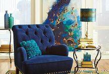 Peacock inspiration interiors