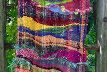 SAORI weaving / materialoop