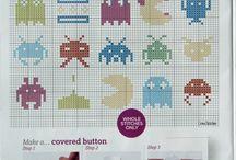 Pixel or 8-bit Quilt ideas
