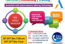 SAVE 15% !! Big Data/ Hadoop Online Training from AcuteSoft . Call Now for FREE DEMO