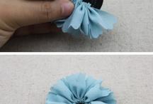 KUMAŞ ÇİÇEKLER / Çiçek  kurdele  kumaş yapılışı