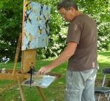 Me at work / Pictures of me painting