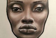 facecharts / #facechart #art #portrait #face #paint