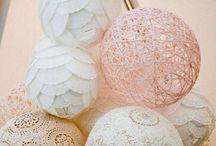 Beautiful Vintage Lace Balls