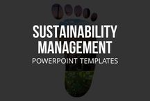 SUSTAINABILITY MANAGEMENT // POWERPOINT TEMPLATES / The issue of sustainability continues to grow in importance, and not just from an ecological standpoint. Businesses in all sectors understand more deeply the relevance of sustainability principles to their operations. With our template for sustainability management, you can integrate resource-conserving processes into your business actions and future economic activities.