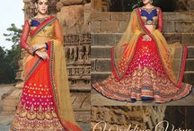 Wedding Verve / #Wedding #lehengaSets in festive traditional Indian colors. Heavy #embroidery in #resham, #zari and #stonework. Complemented with equally ornate #dupattas and #blouses. Join this #WeddingVerve at http://www.bluekurta.com/index.php?route=product%2Fsearch&filter_name=WLGa611020