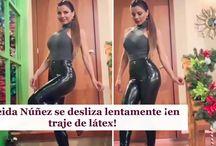 Aleida Núñez se desliza lentamente ¡en traje de látex!
