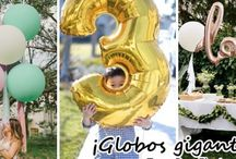Decoracion de fiestas con globos gigantes