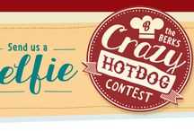 Berks Crazy Hot Dog Contest / The Berks Crazy Hot Dog Contest runs until August 15th 2014. Enter a hot dog recipe using a Berks Hot Dog + 1-5 ingredients. Grand Prize: $500. More info on the website.