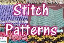 Crochet stitches patterns