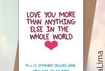 Lima Lima Funny Anniversary Cards / Funny, handmade, humorous anniversary cards for him and here