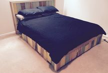 Recycled bed frame / Slapped on sarking/t&g on existing bed frame