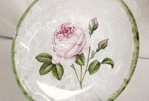 glass plate decoupage