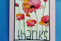 Vesiväriharjoitukset / Online Card Classes' Watercolor for Card Makers v. 14 kurssin innoittamia töitä