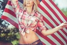 Southern Sass Shoot Out / All American Girl  June Issue / by Brandie Recar