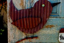 Corrugated metal art