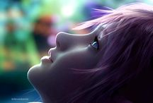 FINAL FANTASY XIII. / FF-XIII things. Lightning does have an own pinwall.
