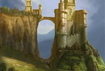 fantasy castles+towers