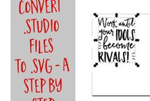 how to convert file into svg