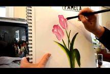 ζωγραφικη λουλουδια